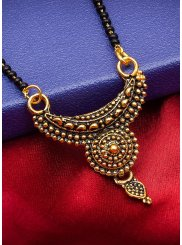 Gold Stone Work Ceremonial Mangalsutra