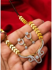 Gold Stone Work Festival Mangalsutra