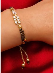 Gold Stone Work Reception Bracelet