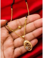 Gold Stone Work Sangeet Mangalsutra