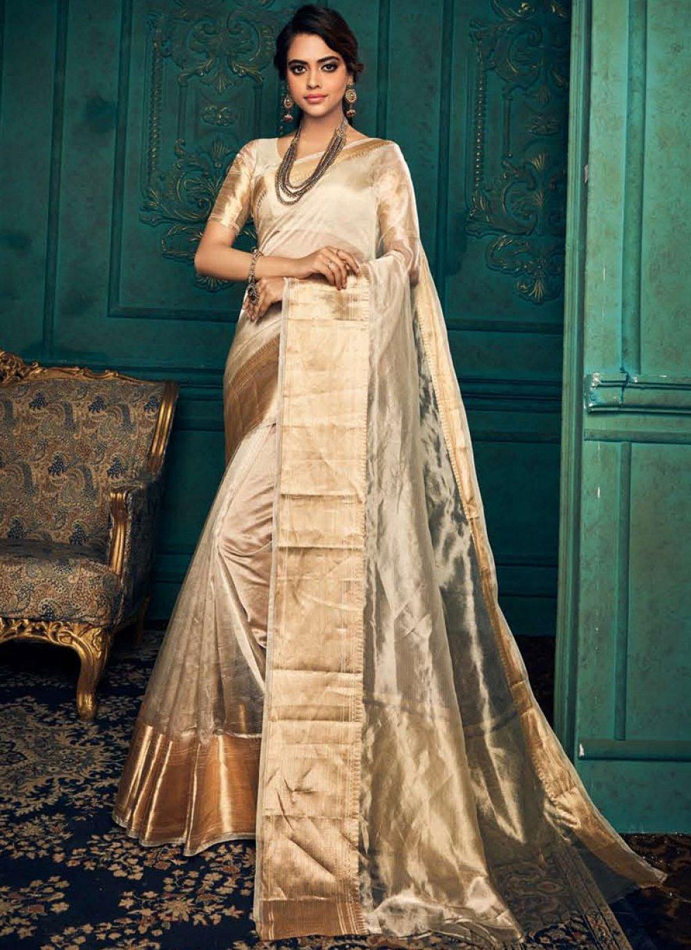 Gold Traditional Designer Saree