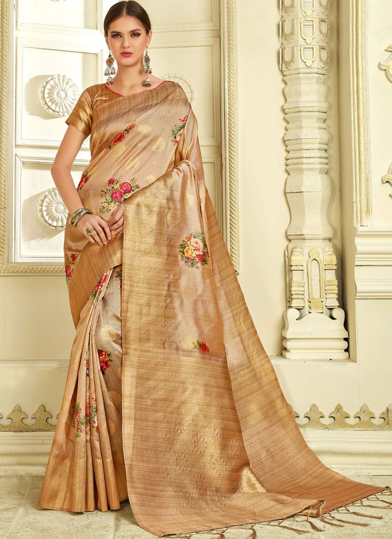Gold Weaving Ceremonial Traditional Saree