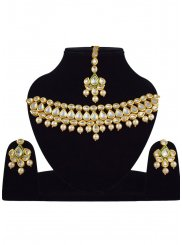 Gold Wedding Necklace Set