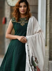 Gown Handwork Silk in Green