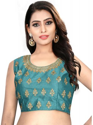 Graceful Sea Green Color Designer Blouse With Embroidery Work
