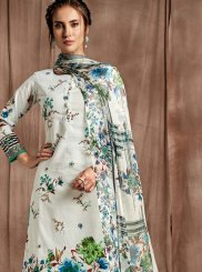 Green and Off White Party Designer Palazzo Salwar Suit