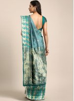 Green and Teal Color Trendy Saree