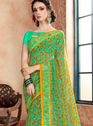 Green and Turquoise Casual Casual Saree