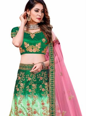 Green and Turquoise Festival Trendy Lehenga Choli