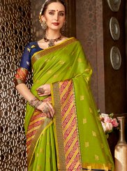 Green Art Silk Ceremonial Classic Saree