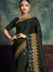 Green Art Silk Embroidered Classic Saree