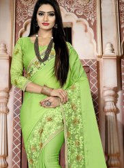 Green Art Silk Embroidered Designer Traditional Saree