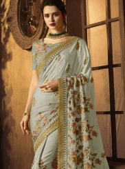 Green Art Silk Embroidered Traditional Saree