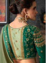Green Art Silk Party Traditional Designer Saree