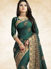 Green Art Silk Party Traditional Saree