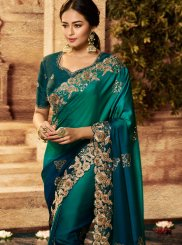 Green Art Silk Shaded Saree