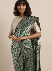 Green Art Silk Silk Saree