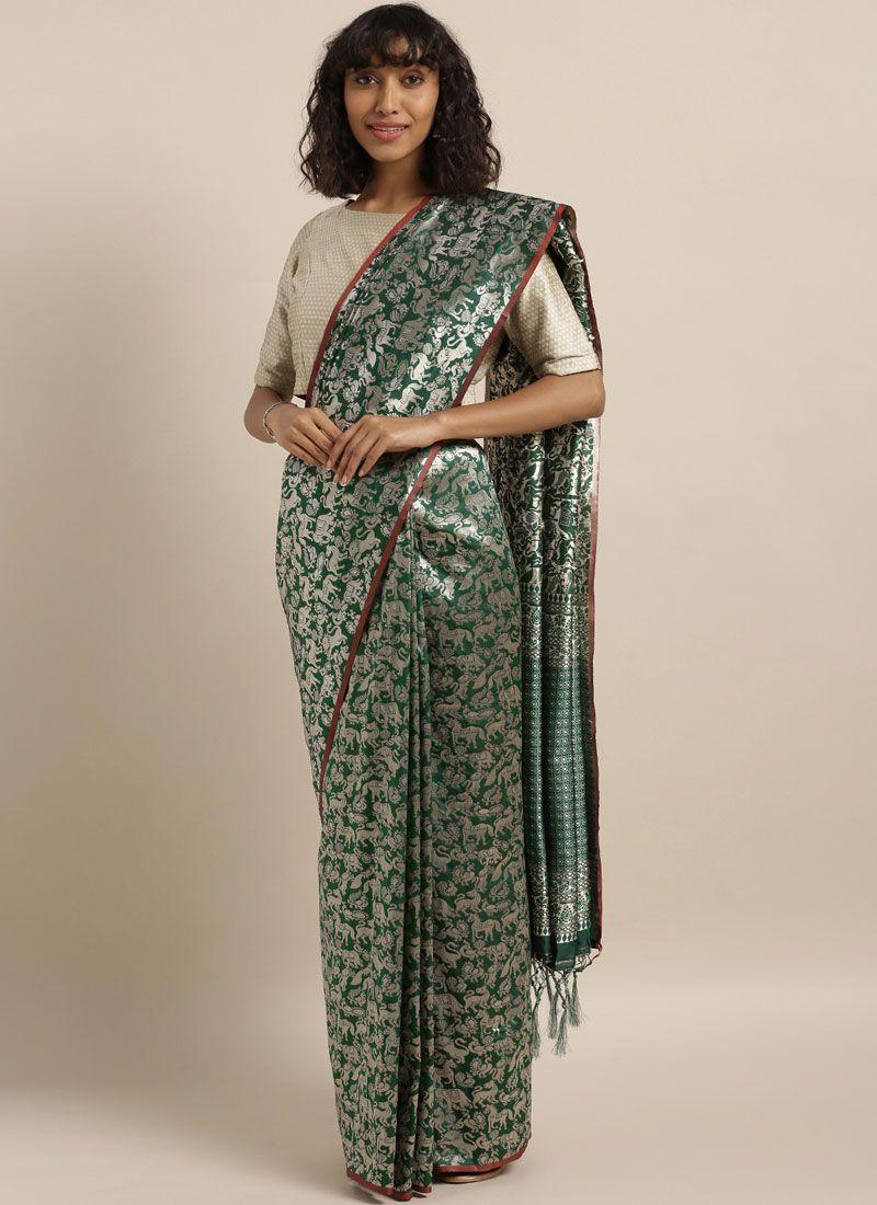 Green Art Silk Silk Saree