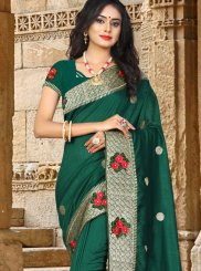 Green Art Silk Traditional Designer Saree