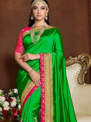 Green Art Silk Trendy Saree