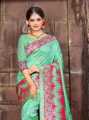 Green Art Silk Woven Traditional Designer Saree