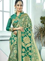Green Art Silk Woven Traditional Saree
