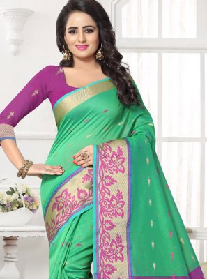 Green Banarasi Silk Silk Saree