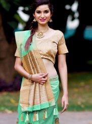 Green Banarasi Silk Zari Designer Saree