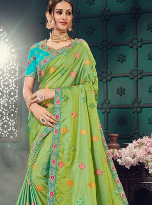 Green Bhagalpuri Silk Classic Saree