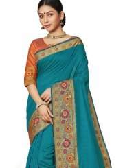 Green Border Designer Saree