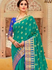 Green Border Designer Saree