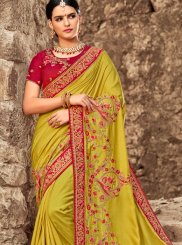 Green Bridal Art Silk Designer Traditional Saree