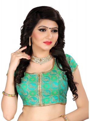 Green Brocade Ceremonial Designer Blouse