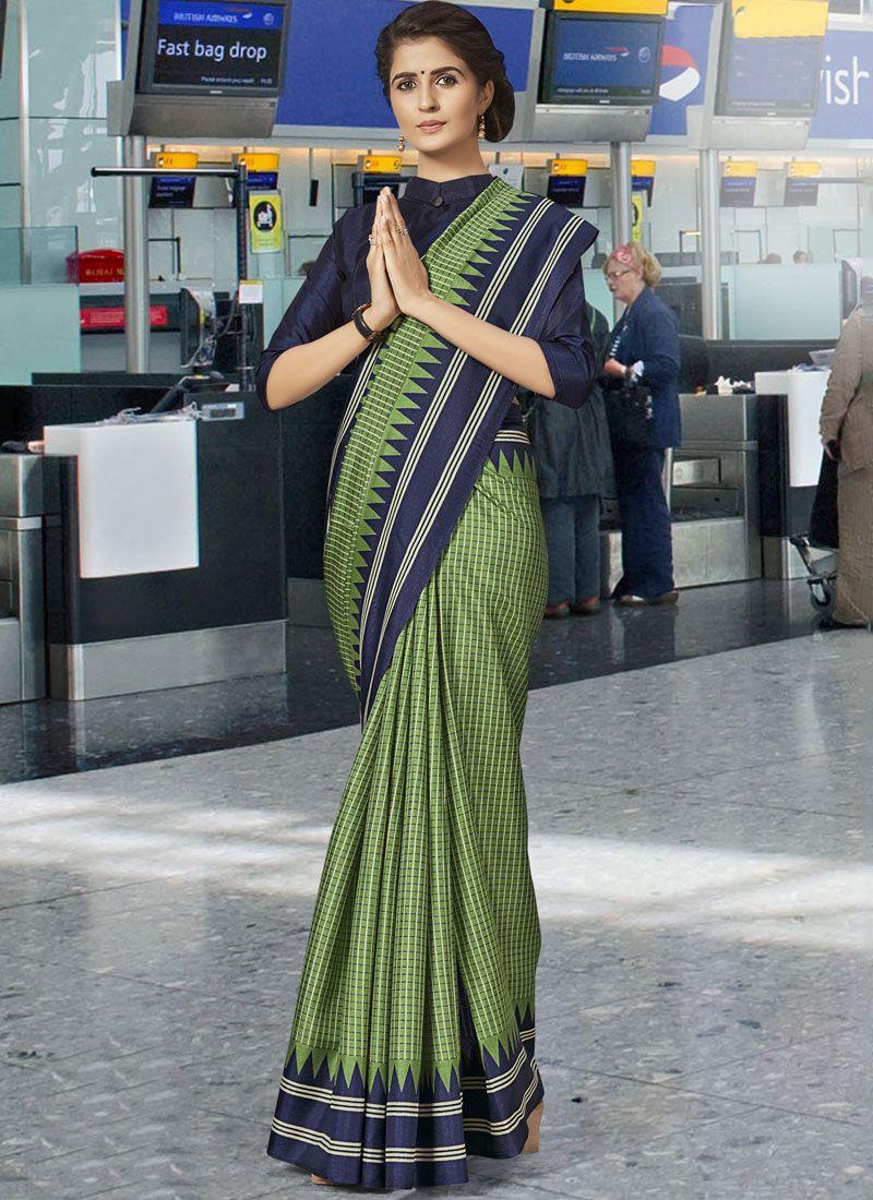 Green Casual Art Silk Traditional Saree