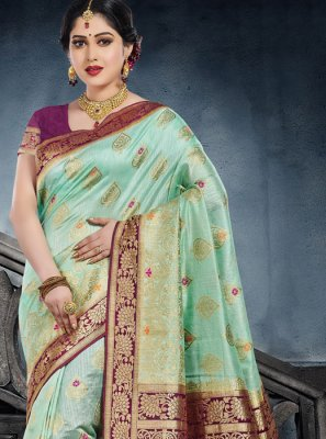 Green Ceremonial Classic Saree