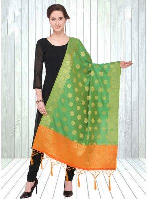 Green Ceremonial Designer Dupatta