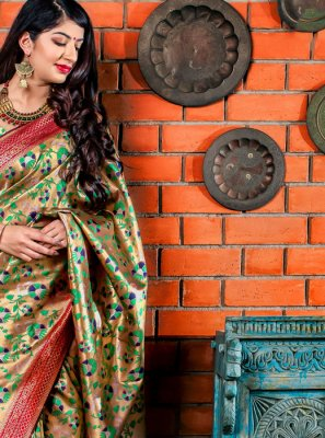 Green Ceremonial Designer Saree