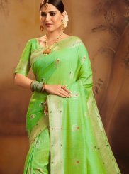 Green Ceremonial Designer Traditional Saree