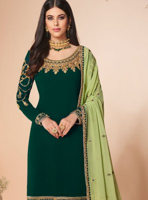 Green Ceremonial Salwar Suit