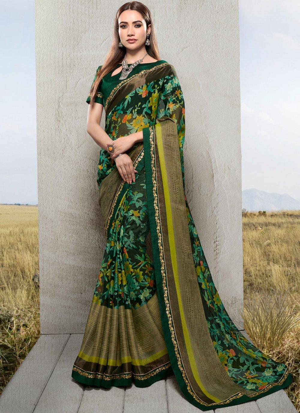 Green Ceremonial Saree