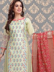 Green Churidar Designer Suit