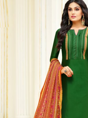 Green Churidar Salwar Kameez