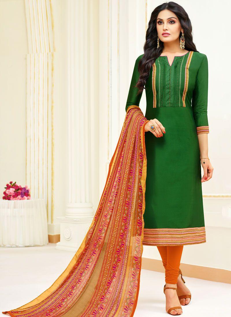 Green Churidar Salwar Kameez