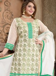 Green Color Churidar Suit