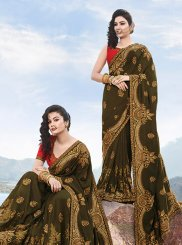 Green Color Classic Saree