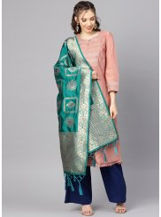 Green Color Designer Dupatta