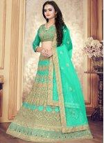 Green Color Designer Lehenga Choli
