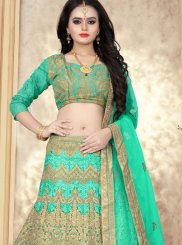 Green Color Designer Lehenga Choli