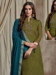 Green Color Designer Palazzo Suit