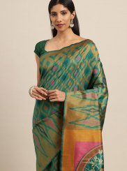 Green Color Designer Traditional Saree